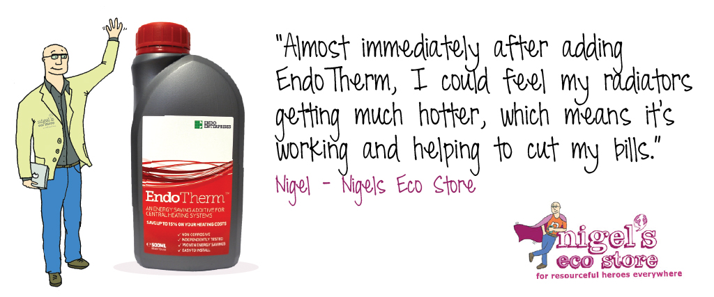 EndoTherm central heating additive also available at Nigels Eco Store